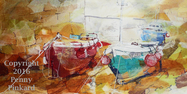 "<a href=""/node/83"">Boats 8, stitched textile</a>"