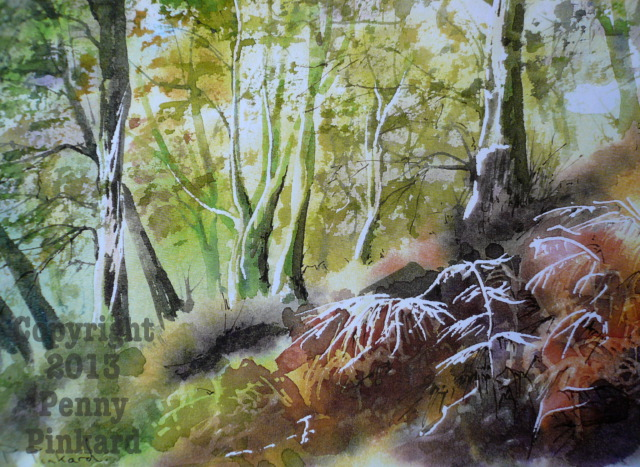 "<a href=""/node/70"">Woods, watercolour</a>"
