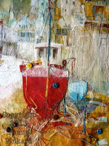 "<a href=""/node/34"">Boats 3, stitched textile</a>"